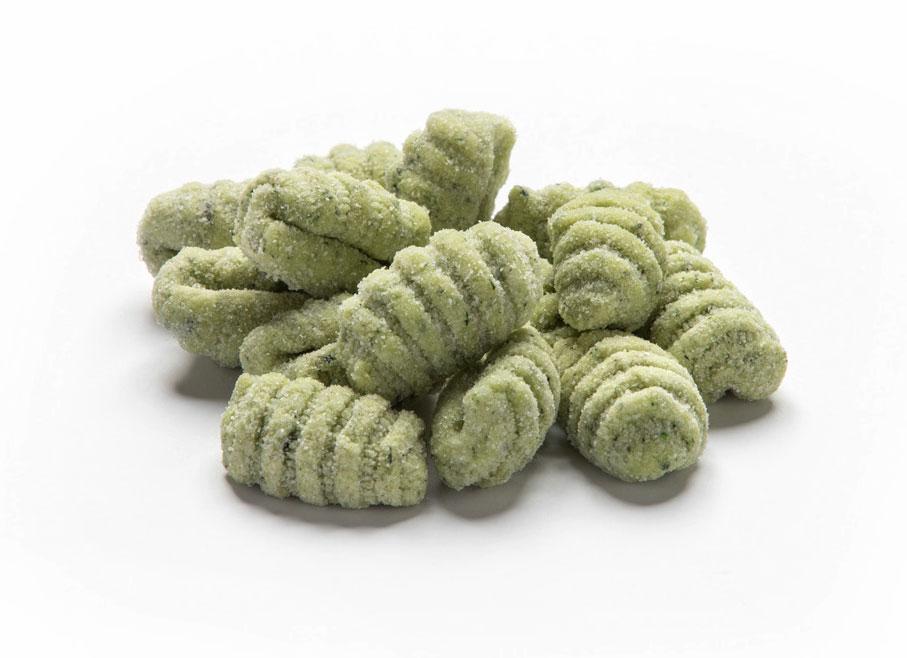 Gnocchi di patate verdi rigati